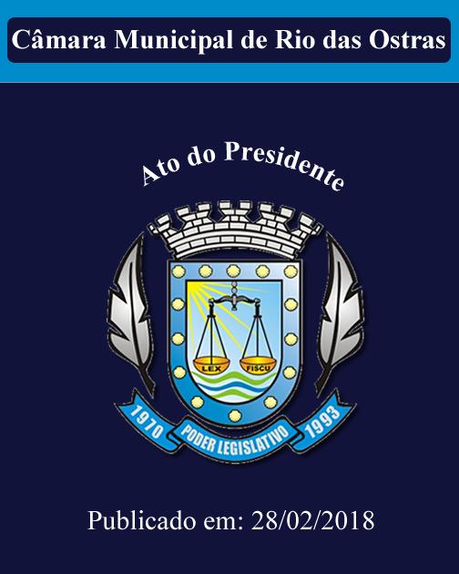 Ato do Presidente nº 001/2018
