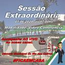 Convocação para a Sessão Extraordinária 05/06/2020 - Modalidade Vídeo Conferência.