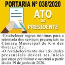 Portaria n° 038/2020