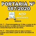 Portaria nº 087/2020