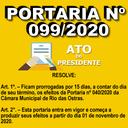 Portaria nº 099/2020