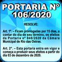 Portaria nº 106/2020
