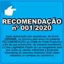 Recomendação 001/2020